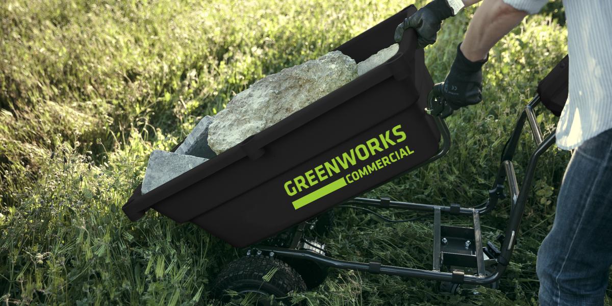 Садовые тележки Greenworks 82V Commercial