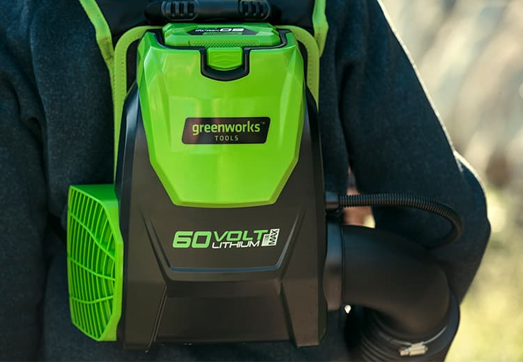 Ранцевая вохздуходувка Greenworks 60v