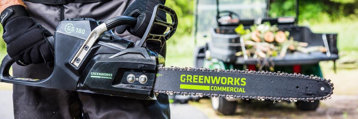 Цепные пилы Greenworks 82V Commercial