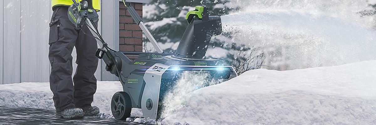Снегоуборщики Greenworks 82V Commercial