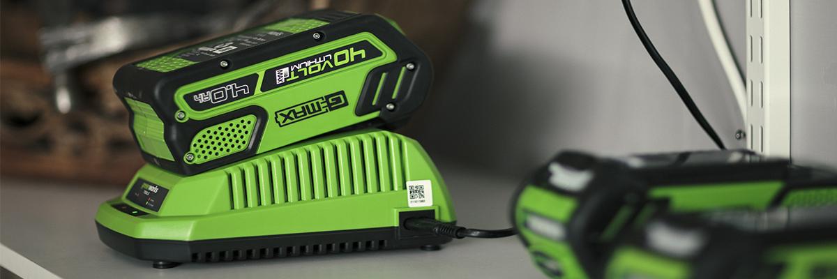 Зарядные устройства для аккумуляторов Greenworks G-MAX 40V