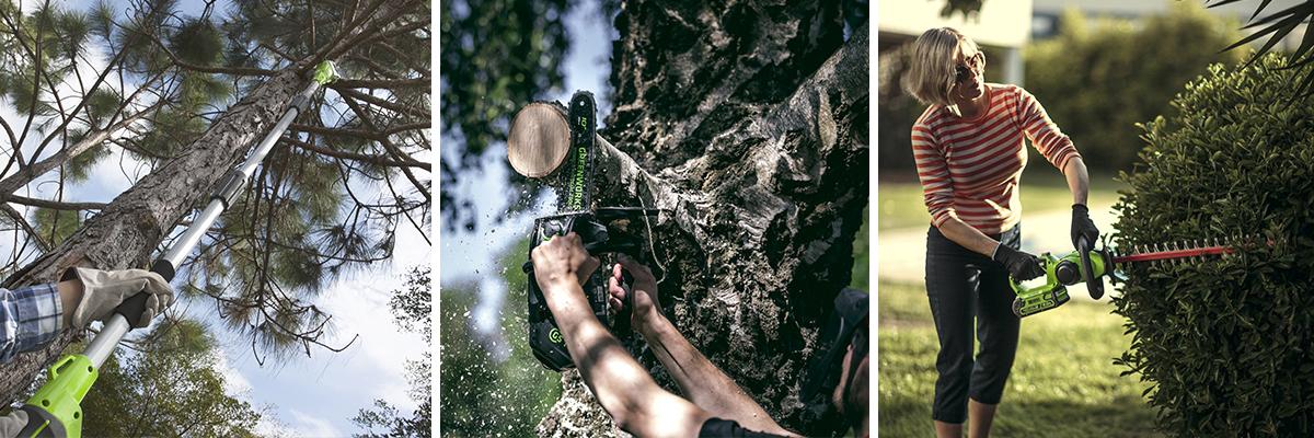 Для подрезки деревьев и кустов